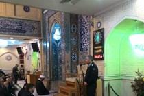 ملاقات رئیس کلانتری 106 با نمازگزاران مسجد