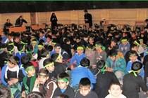 مراسم عزاداری دانش آموزان در مسجد